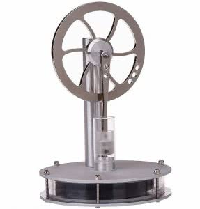 Silver Stirling engine wheel by Sunnytech. Click to visit its Amazon page.