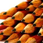 Two dozen sharpened red pencils