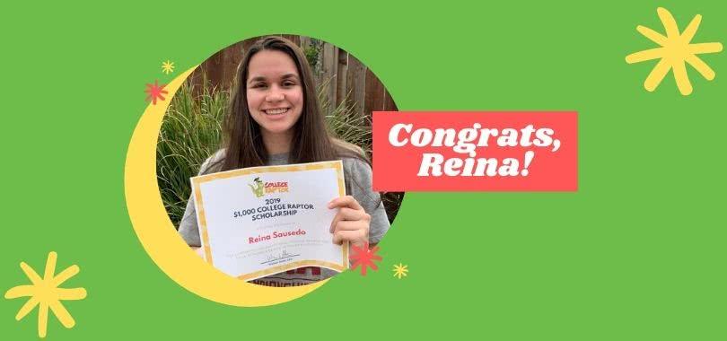 College Raptor Scholarship Recipient Reina Sausedo