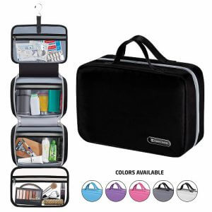 Expert Travel hanging toiletry bag. Click to visit its Amazon page.
