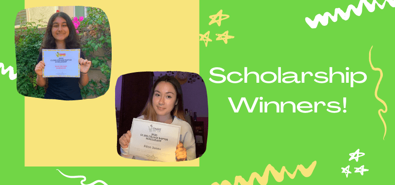 Scholarship winners Sarah and Eden