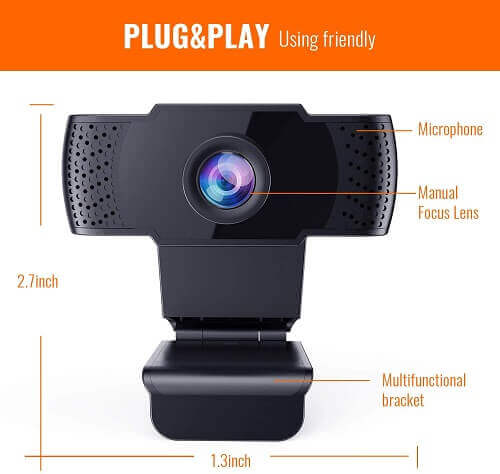 Firsting Webcam. Clicking will lead to its Amazon page.