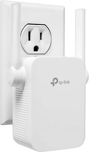 TP Link wifi extender. Clicking will lead to its Amazon page.