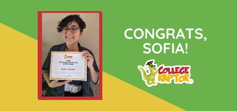 Scholarship award winner Sofia