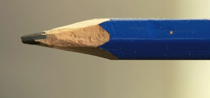 Pencil used to write scholarship applications